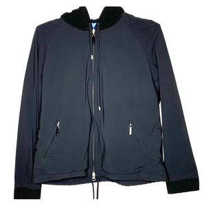 Escada Sport Fleece Lined Hoodie Zip Up Pockets